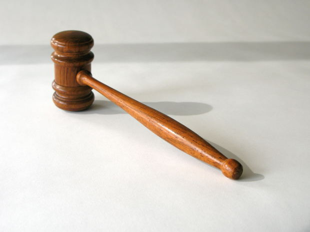 gavel on white bG
