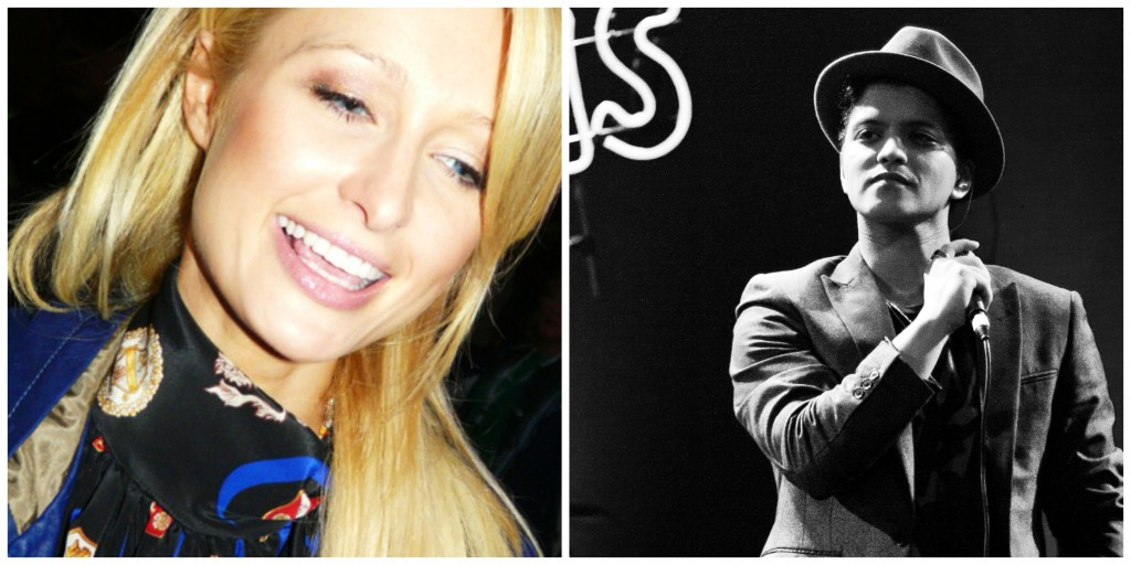 Paris Hilton and Bruno Mars