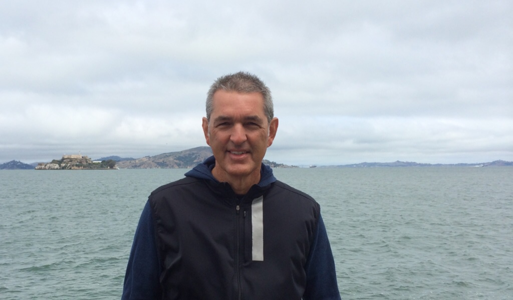 Criminal defense attorney Gabe Grasso participating in alcatraz challenge