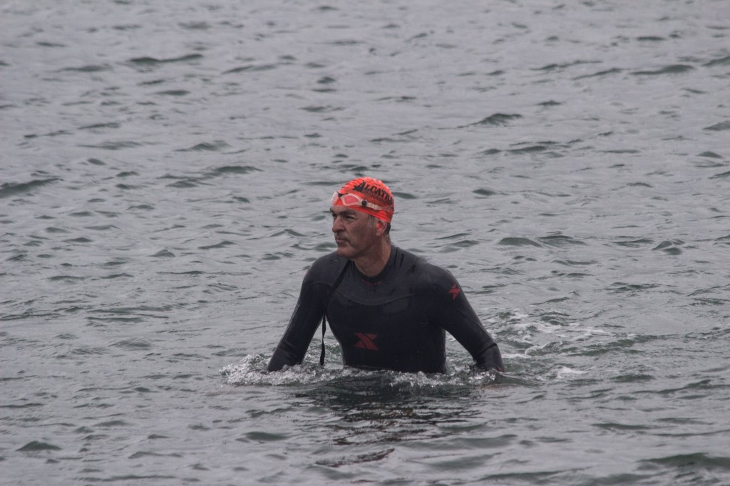 gabe grasson swimming in the alcatraz challenge